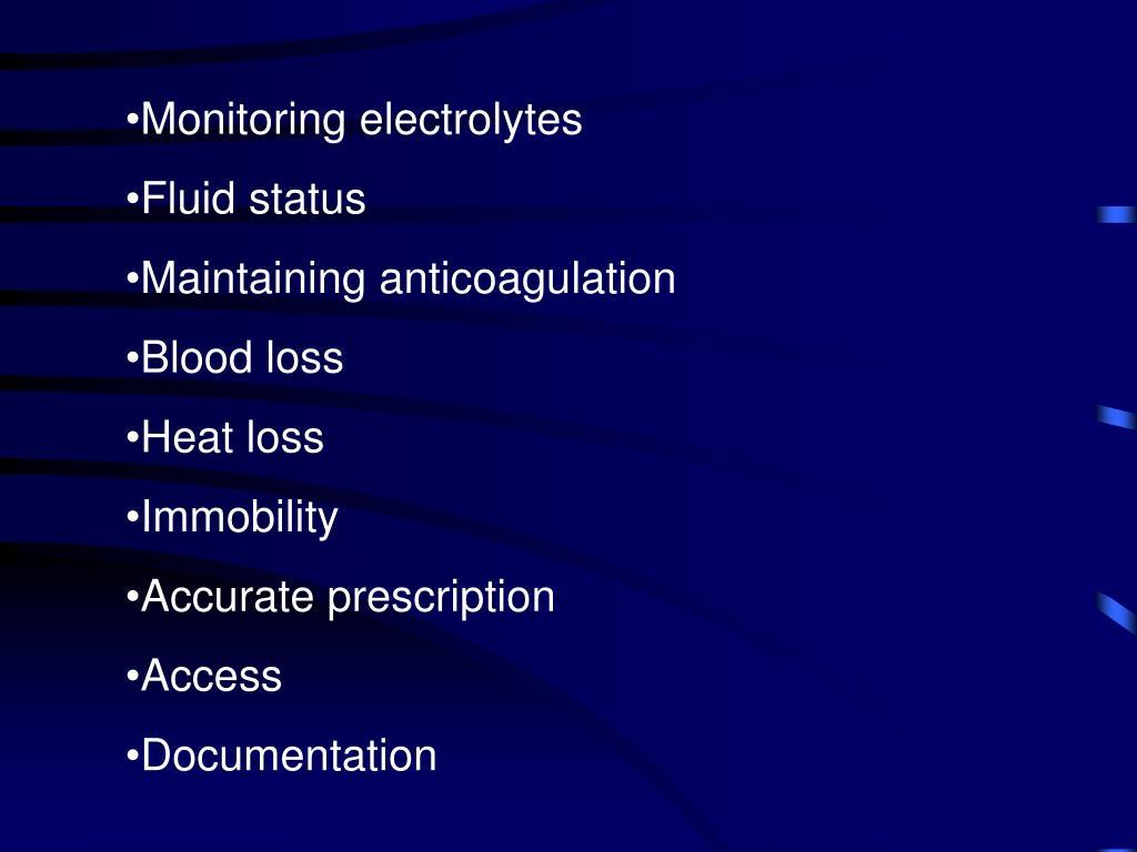Monitoring electrolytes