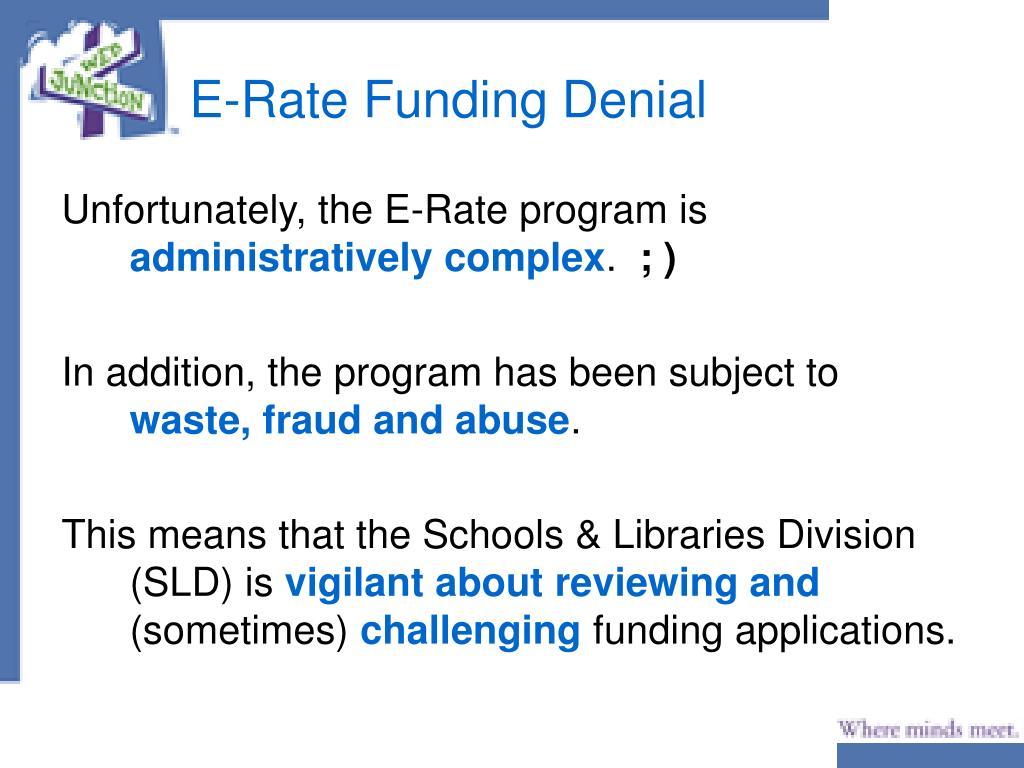 E-Rate Funding Denial