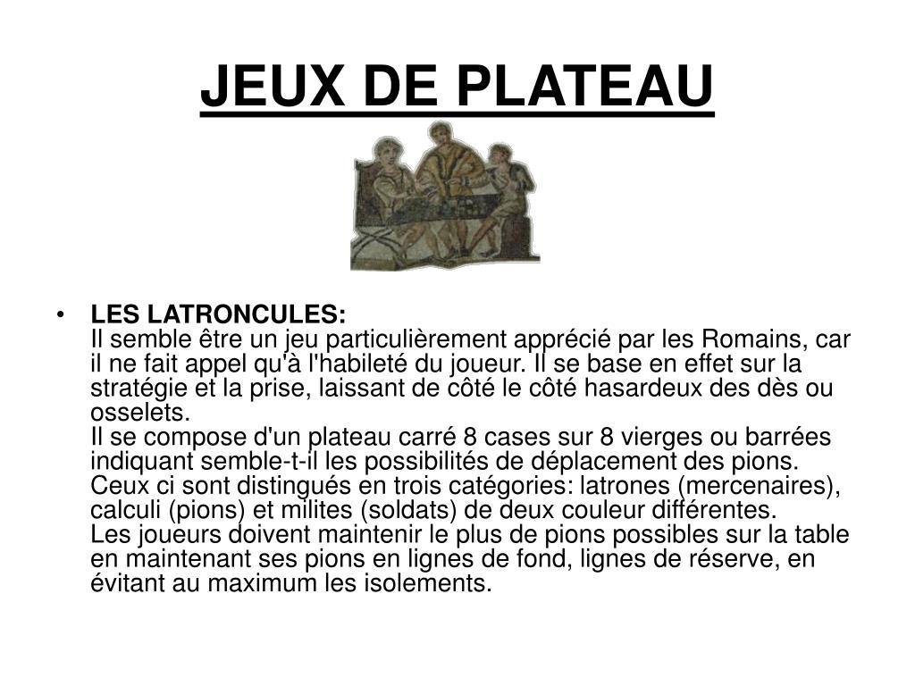 JEUX DE PLATEAU
