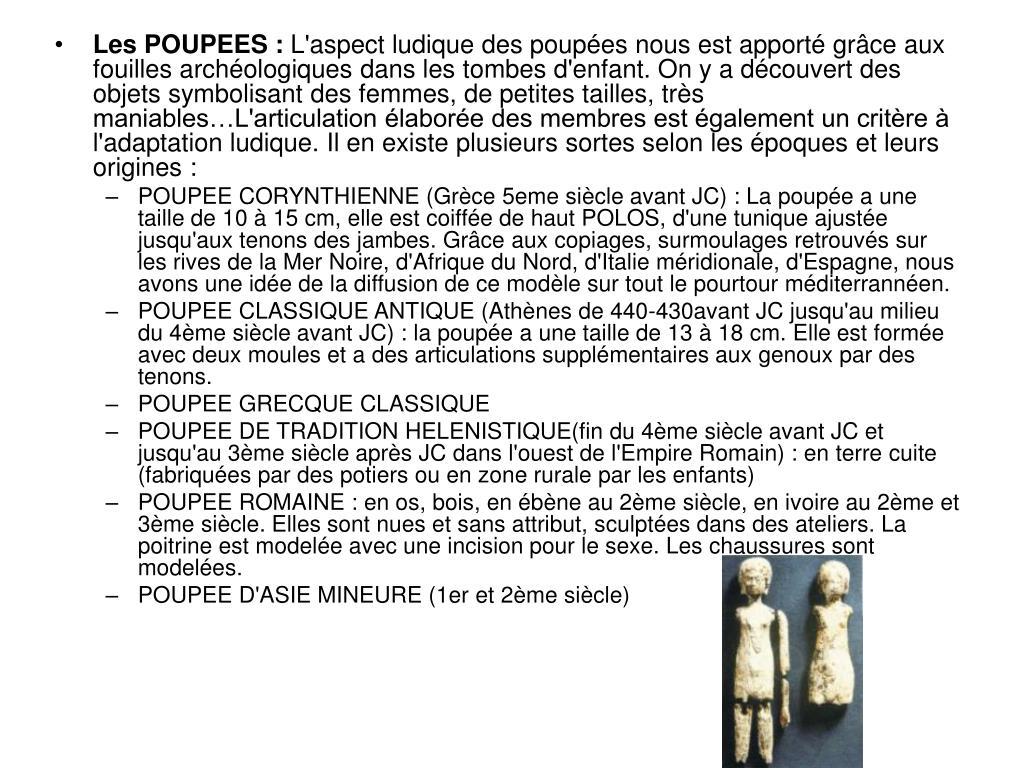 Les POUPEES :