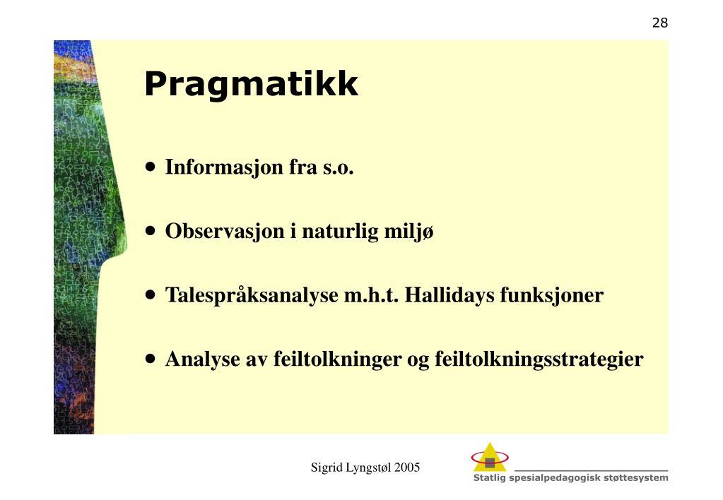 Pragmatikk