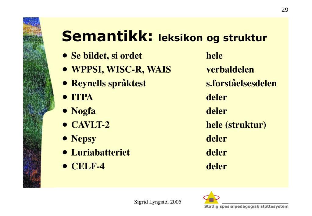 Semantikk: