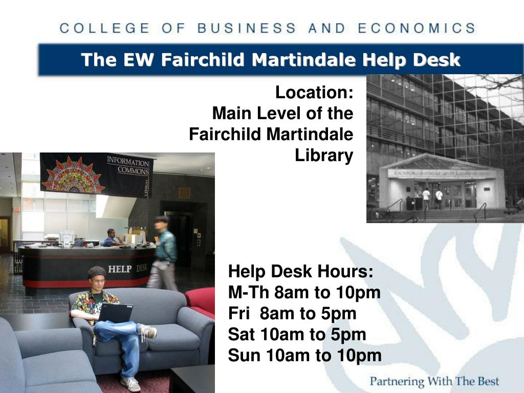 The EW Fairchild Martindale Help Desk