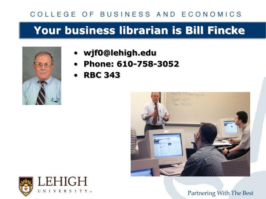 wjf0@lehigh.edu