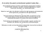 a re entry focused correctional system looks like