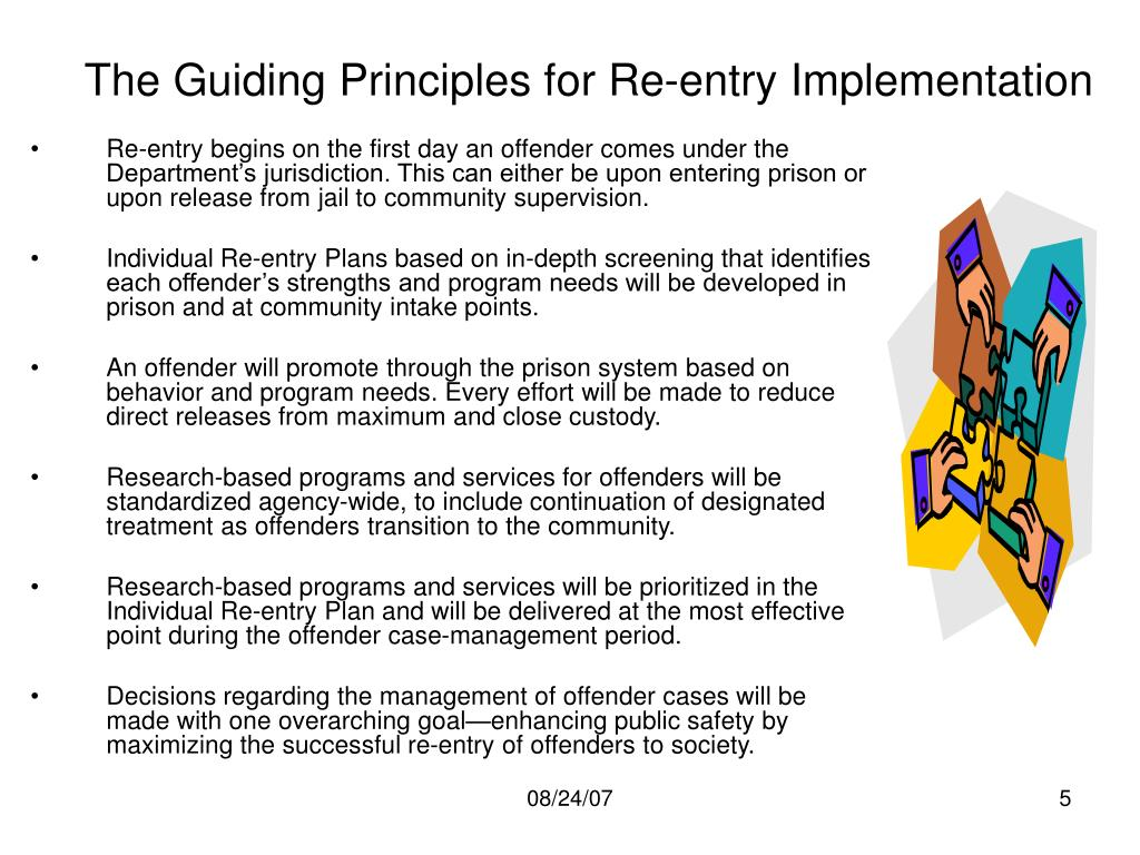 The Guiding Principles for Re-entry Implementation