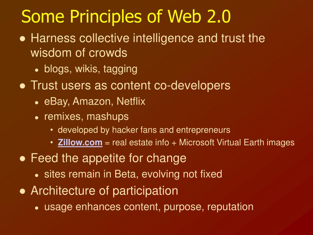 Some Principles of Web 2.0