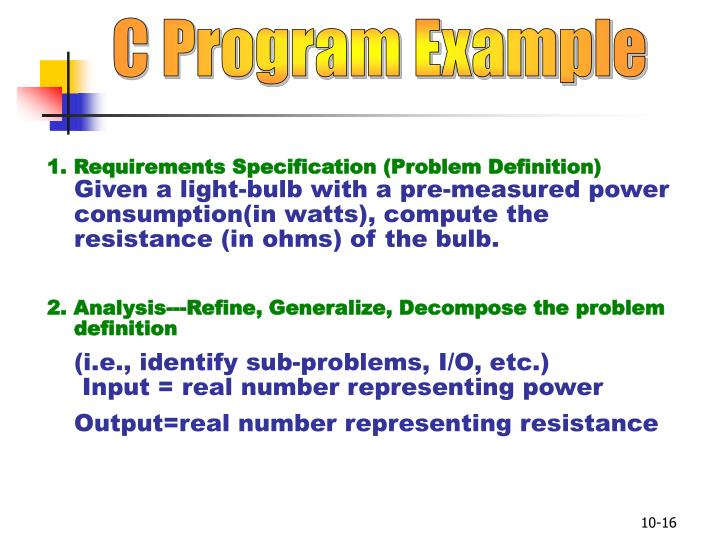 C Program Example