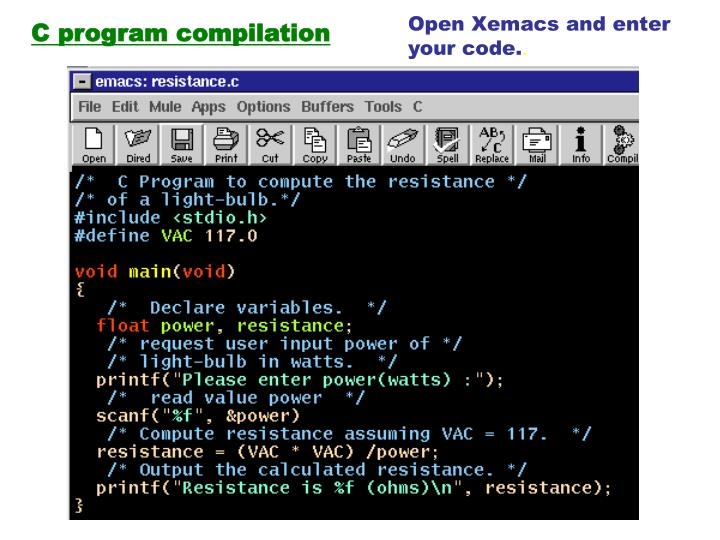 Open Xemacs and enter
