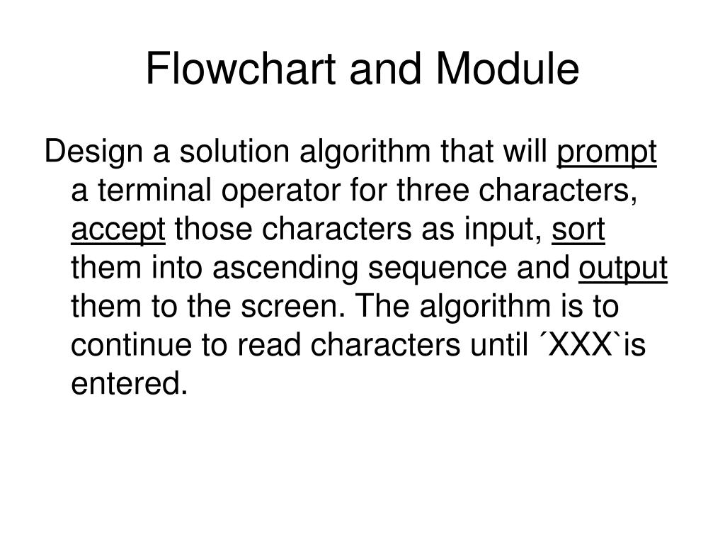 Flowchart and Module
