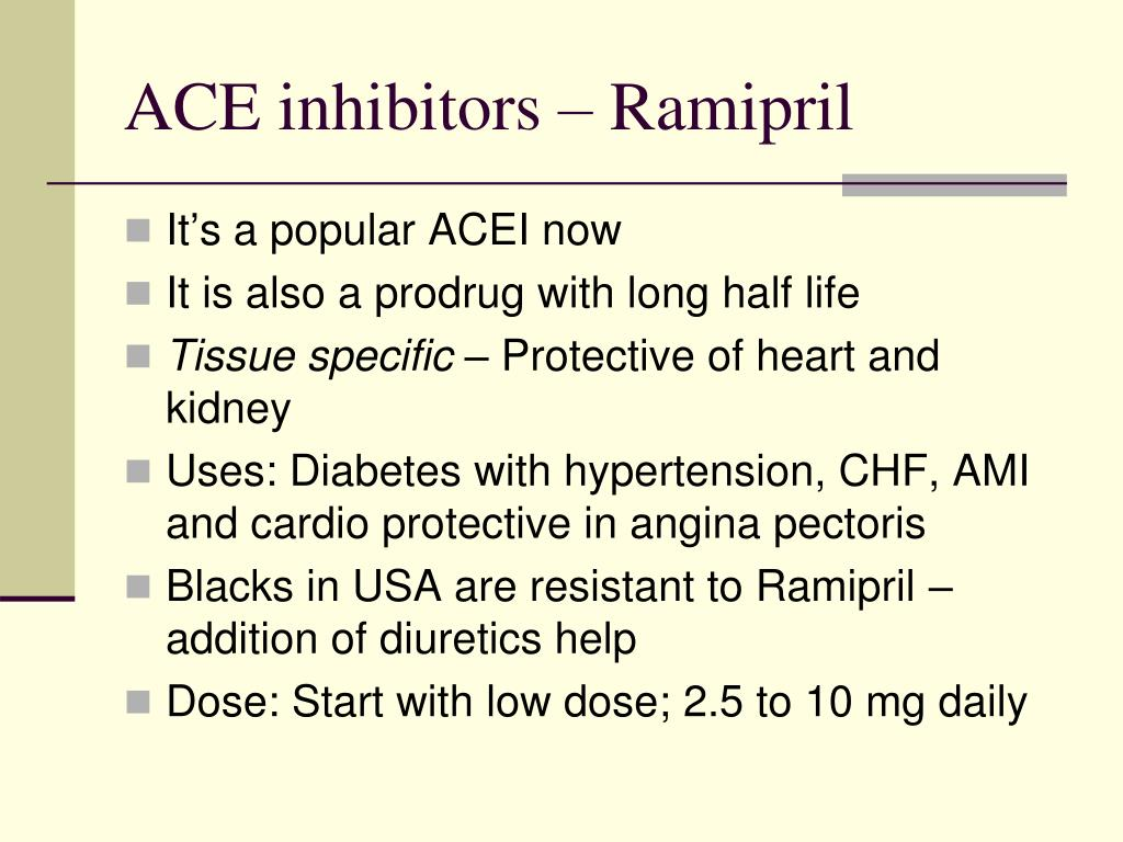 ACE inhibitors – Ramipril