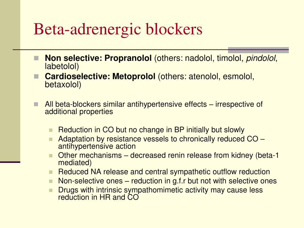 Beta-adrenergic blockers