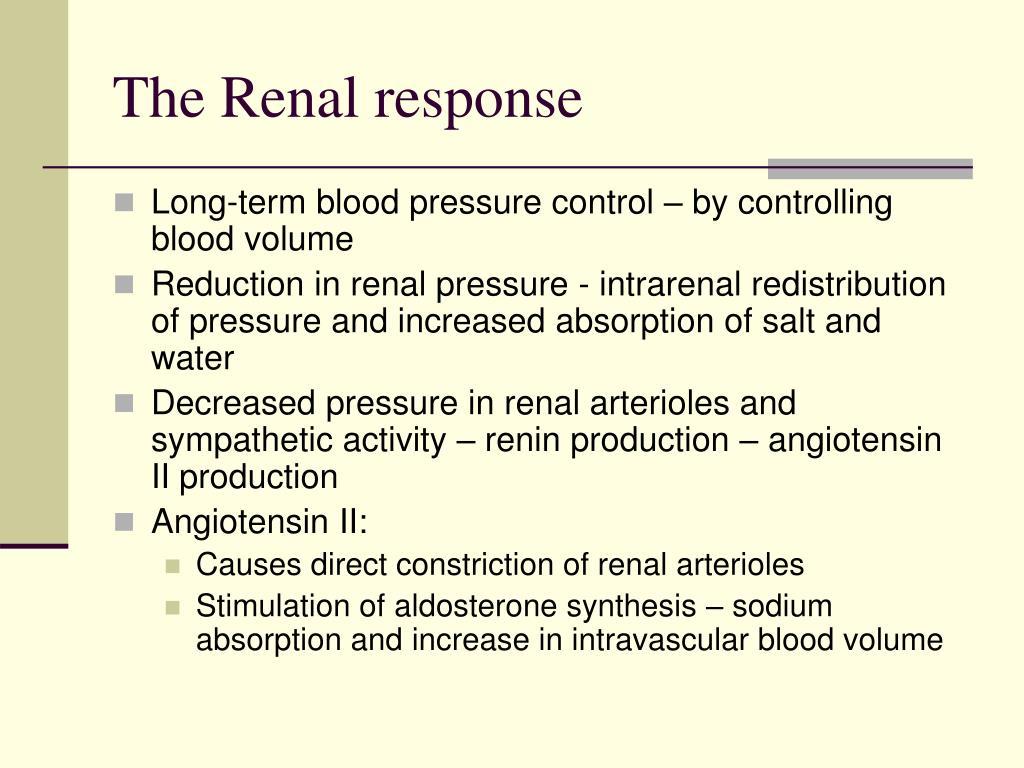 The Renal response