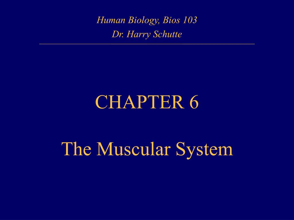 Human Biology, Bios 103