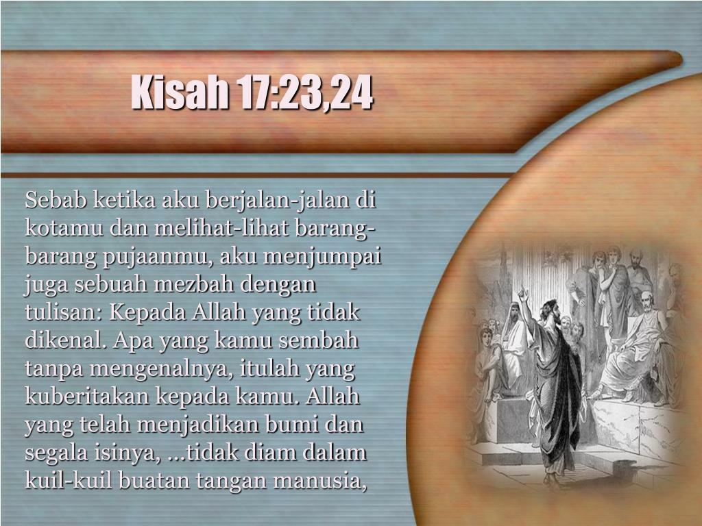 Kisah 17:23,24