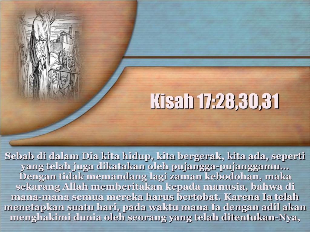Kisah 17:28,30,31