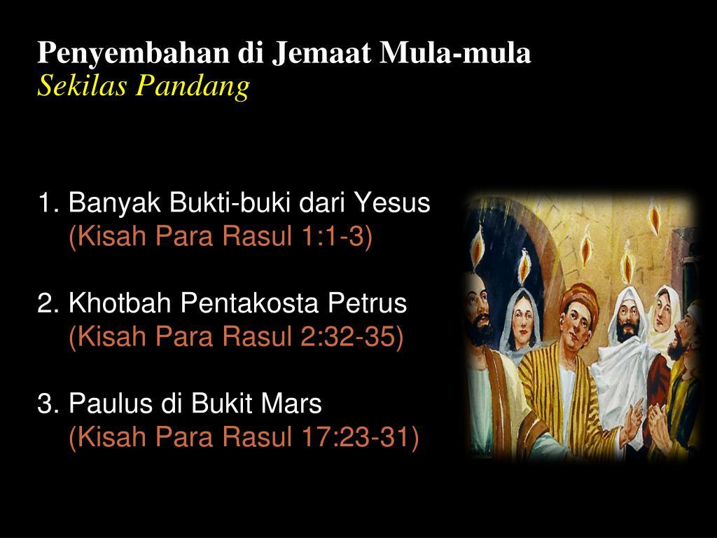 Penyembahan di Jemaat Mula-mula