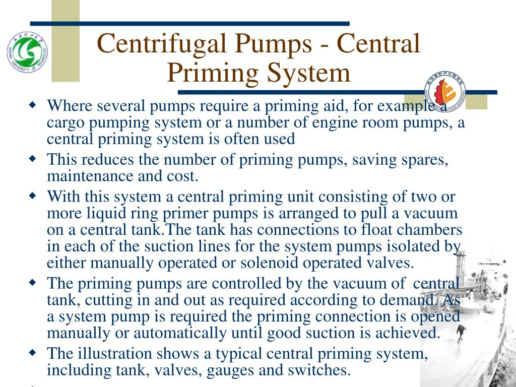 Centrifugal Pumps - Central Priming System