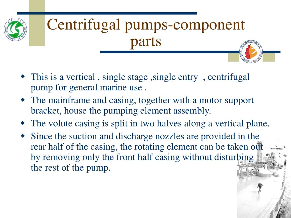 Centrifugal pumps-component parts