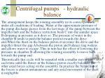 centrifugal pumps hydraulic balance54