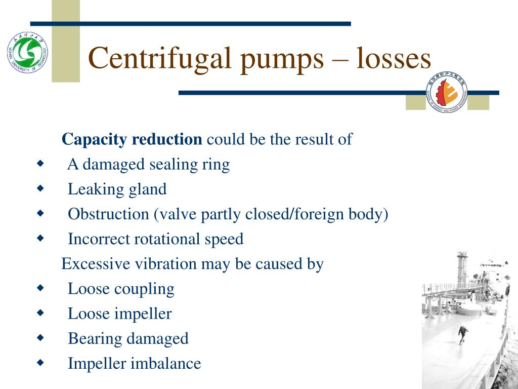 Centrifugal pumps – losses