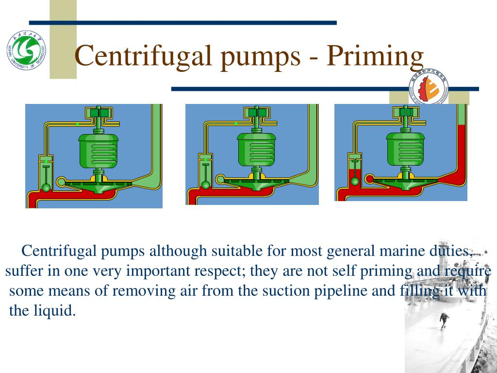 Centrifugal pumps - Priming