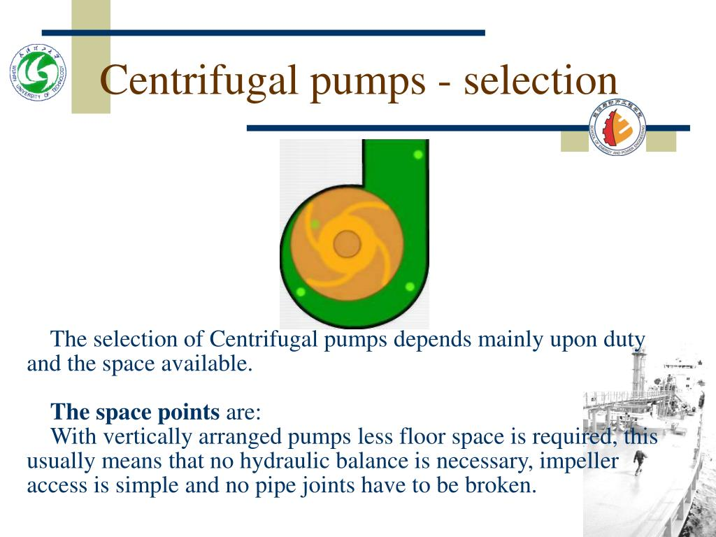 Centrifugal pumps - selection