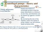 centrifugal pumps theory and characteristics14