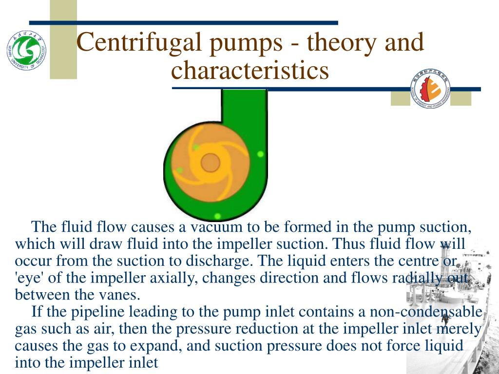 Centrifugal pumps - theory and characteristics