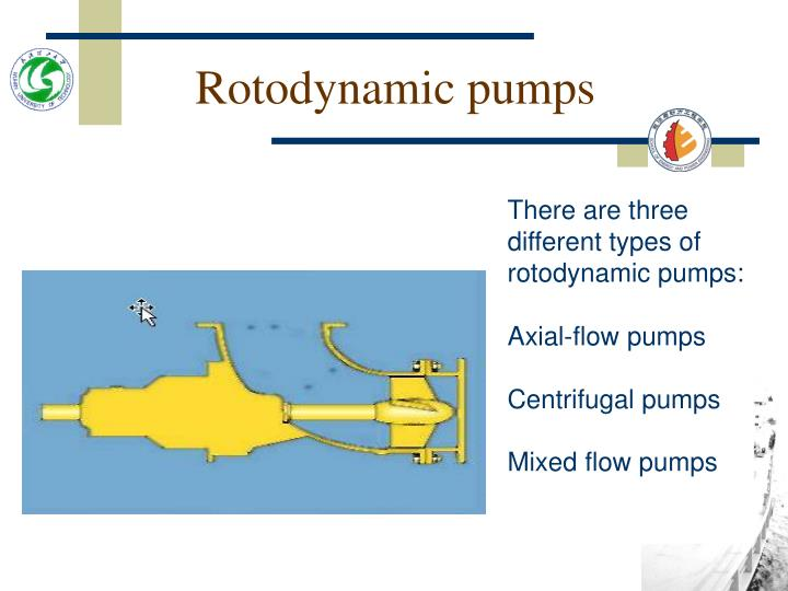 Rotodynamic pumps