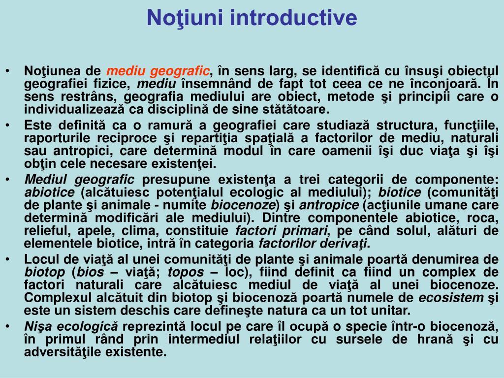 Noţiuni introductive