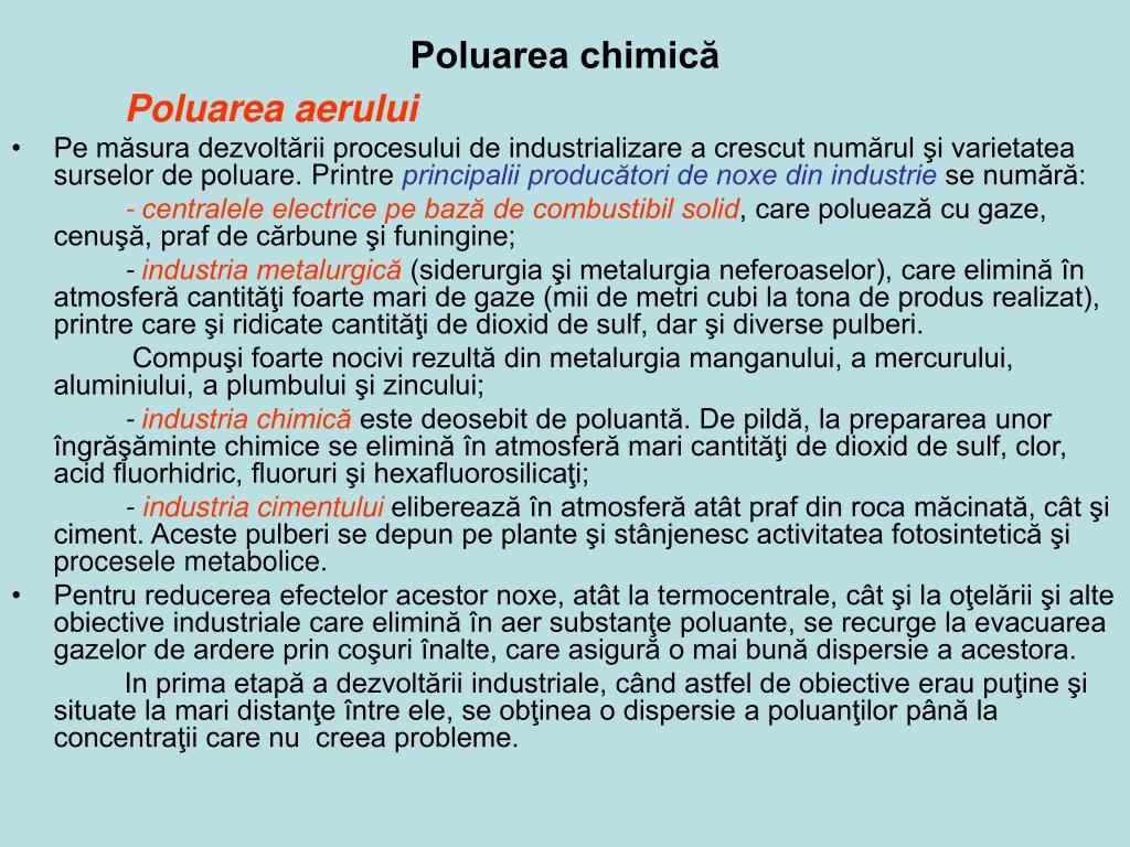 Poluarea chimică