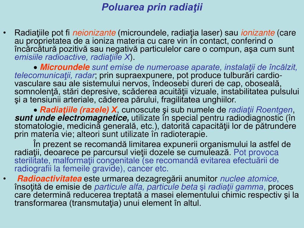 Poluarea prin radiaţii