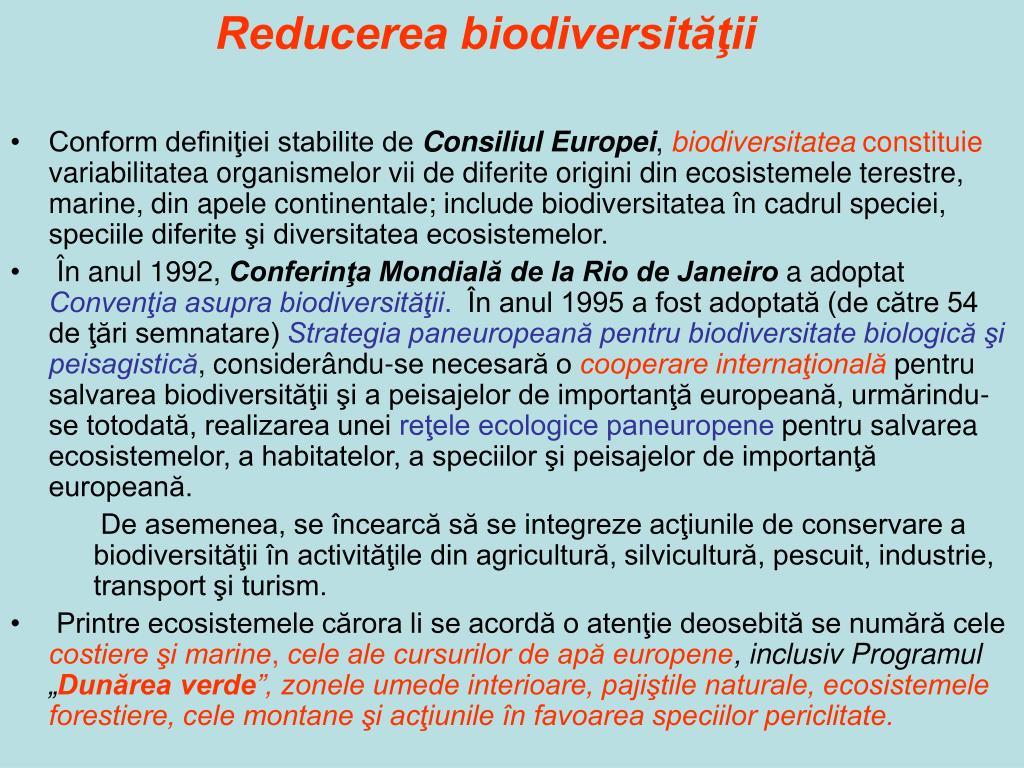Reducerea biodiversităţii