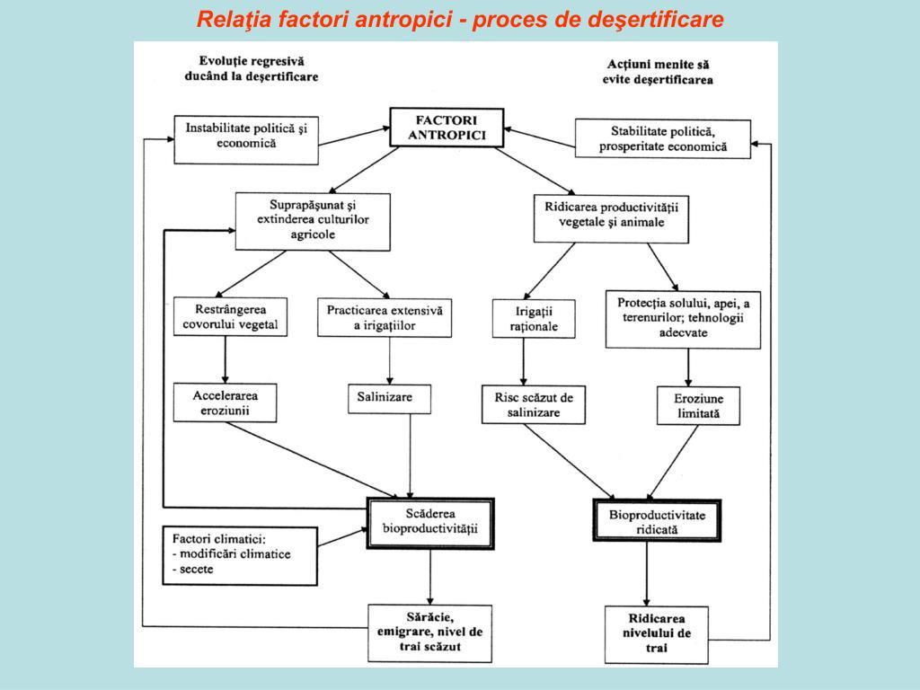 Relaţia factori antropici - proces de deşertificare