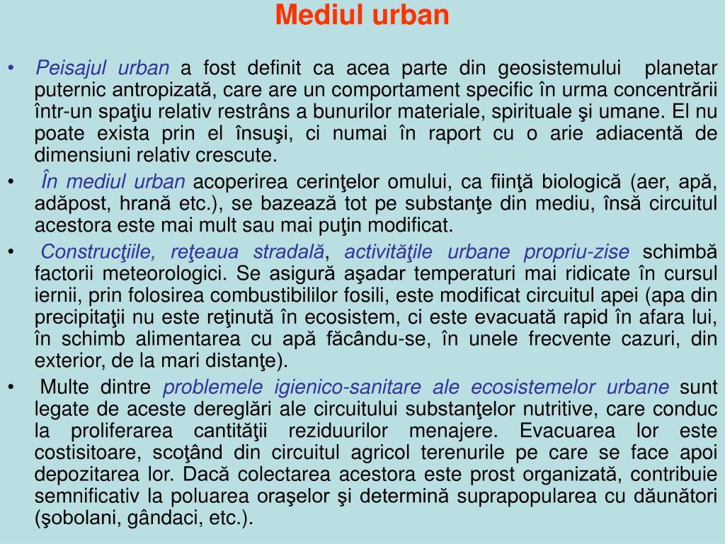 Mediul urban