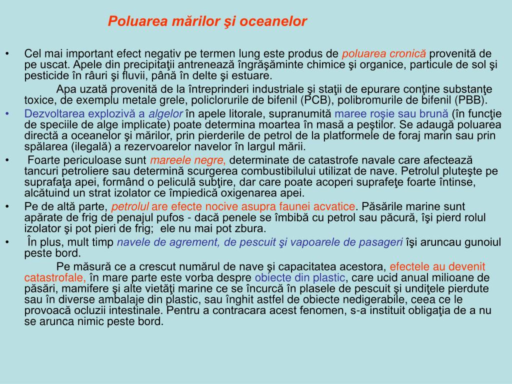 Poluarea mărilor şi oceanelor