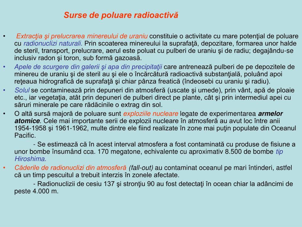 Surse de poluare radioactivă