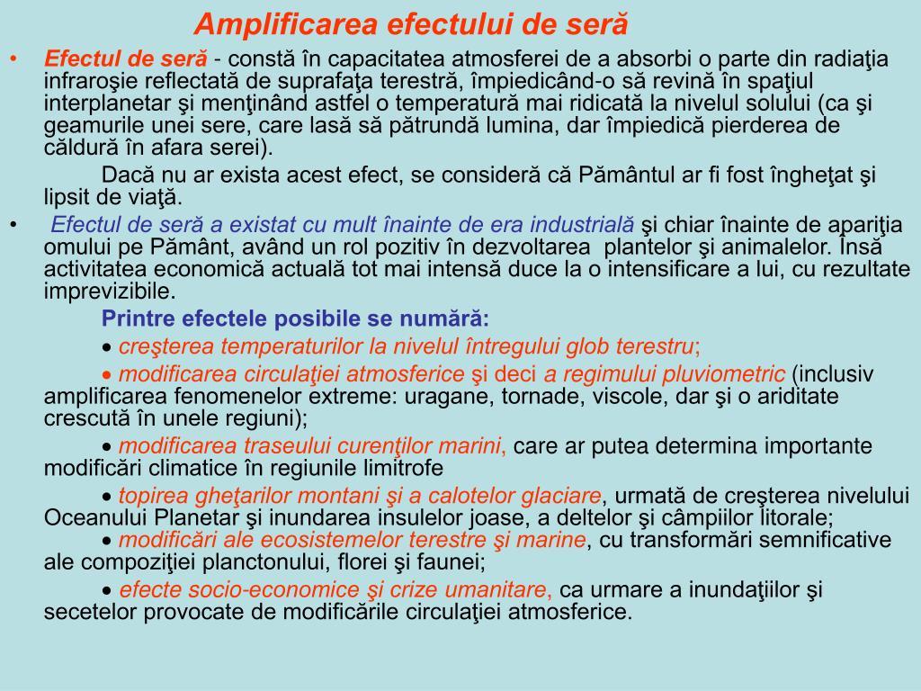 Amplificarea efectului de seră