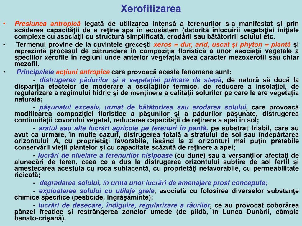 Xerofitizarea