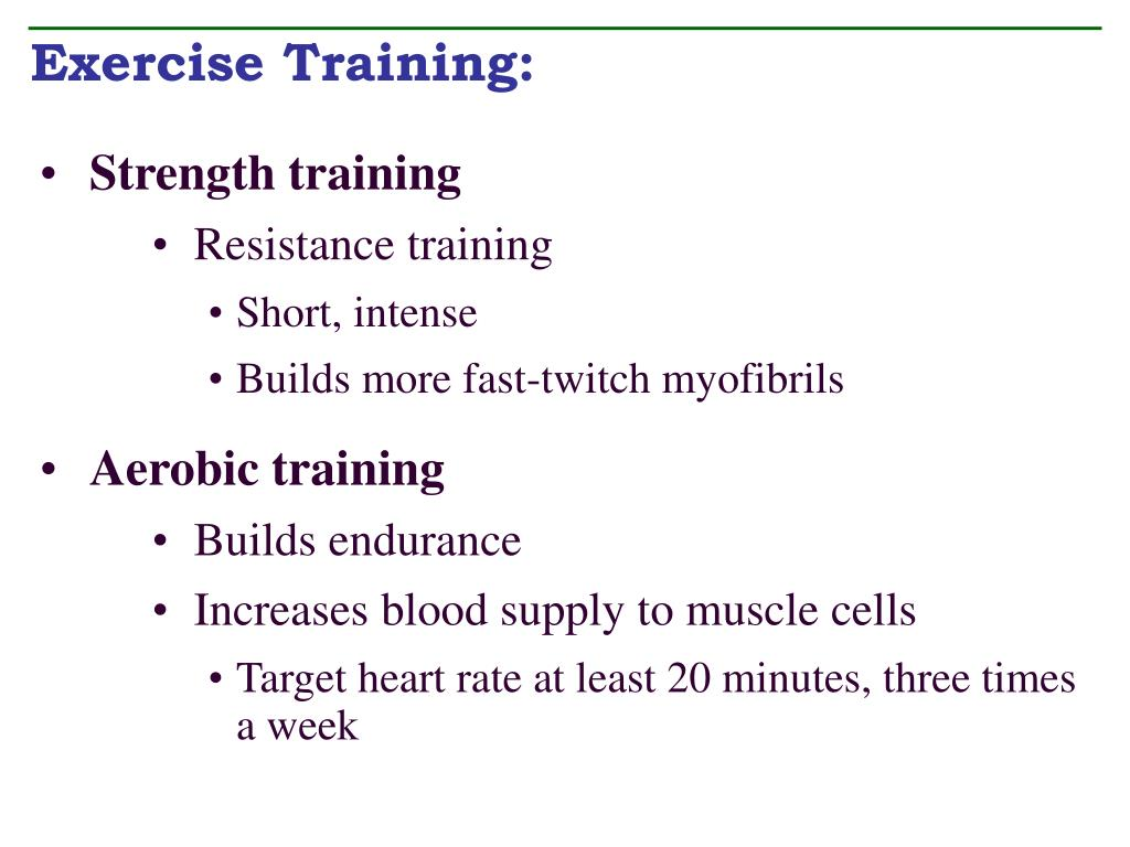 Exercise Training: