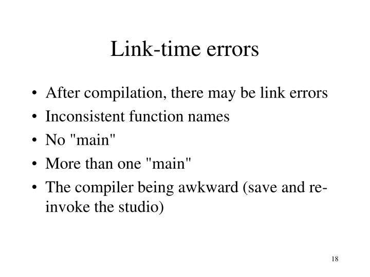 Link-time errors