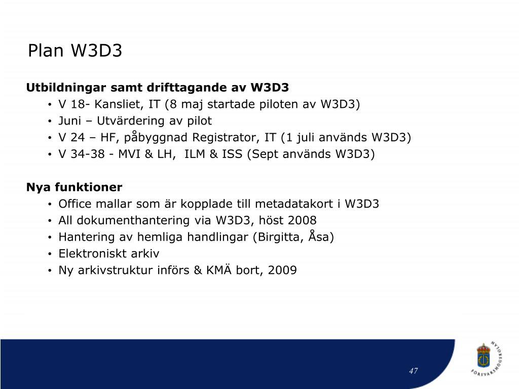 Plan W3D3