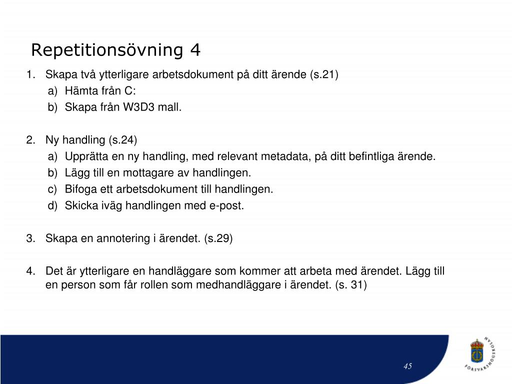 Repetitionsövning 4
