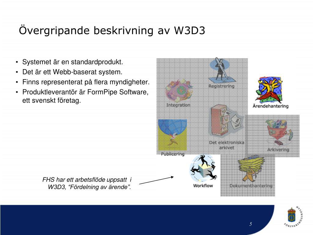 Övergripande beskrivning av W3D3