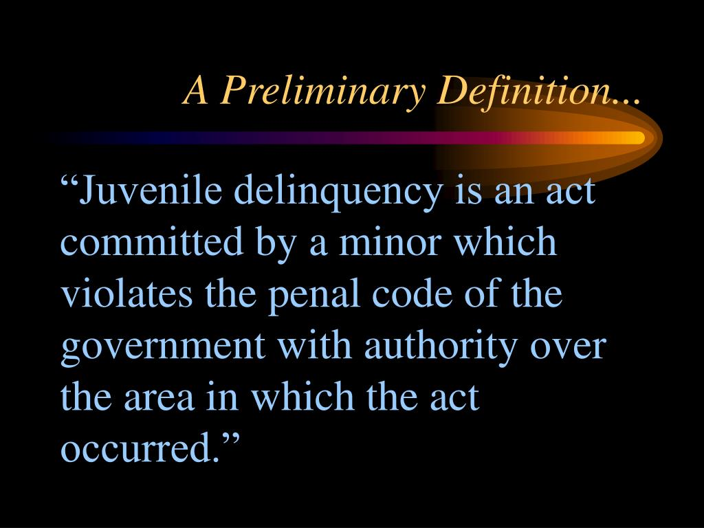 A Preliminary Definition...