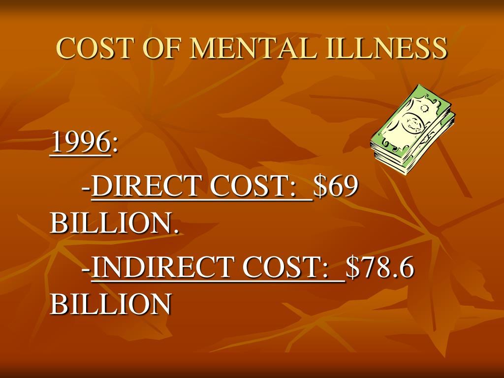 COST OF MENTAL ILLNESS