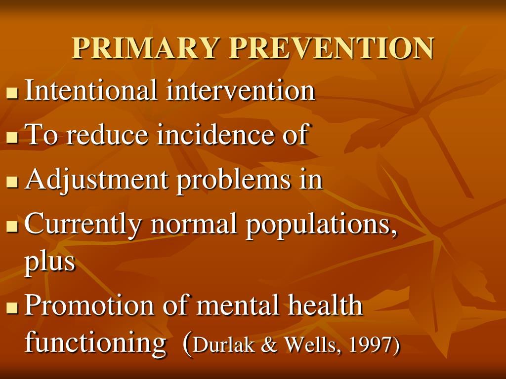 Intentional intervention