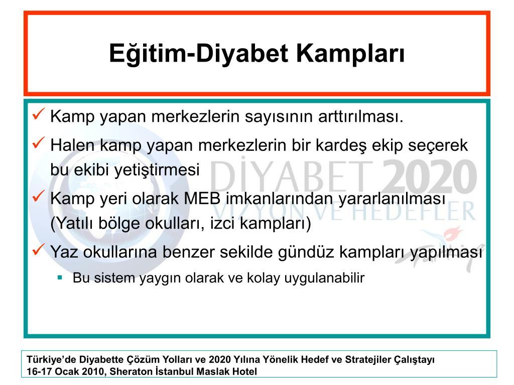 Eğitim-Diyabet Kampları