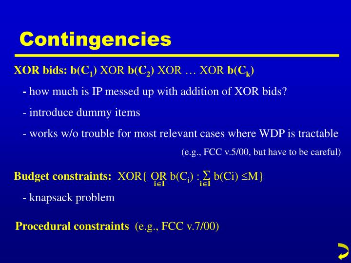 Budget constraints: